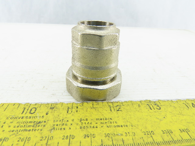 Applied Systems 32mmx20mm Brass Nickel Plated Push To Connect Reducing Union