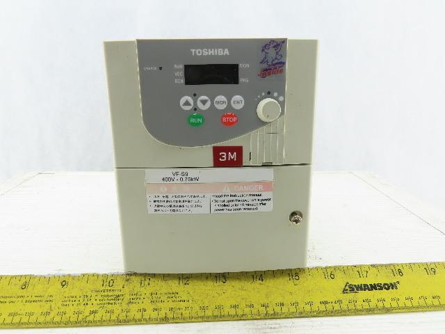 Toshiba VFS9-4007PL-WN 3Ph 280/500V Input 3Ph 1Hp 0.5/400Hz Inverter Drive