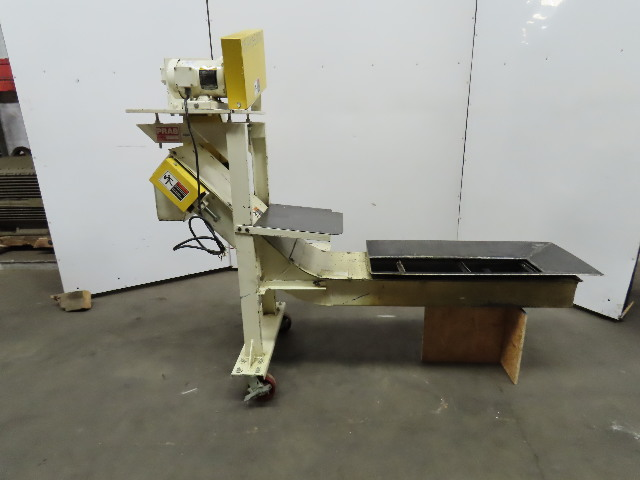 "Incline Chip Cleated Conveyor 9"" Wide 32"" Discharge 8 IPM 230/460V 3Ph"