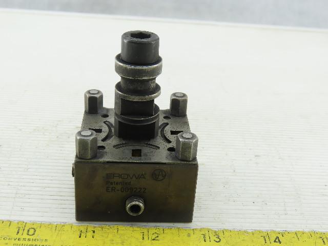 Erowa ER-009222 Brass Square Pocket Electrode Holder W/Spigot