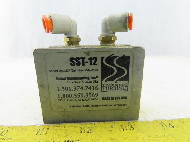 Global Manufacturing SST-12 Pneumatic Silver Sonic Turbine Vibrator