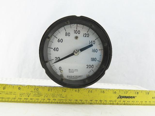 Ashcroft Q-586 Pressure Gauge 0-200PSI Duragauge Bronze Tube Brass Socket