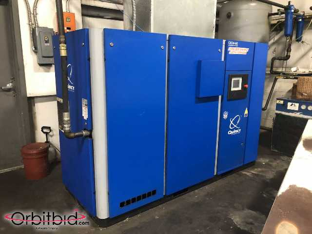 Quincy QGV-60 2014 Variable Speed 60 HP Air Compressor w/Dryer, Air Tank 250CFM