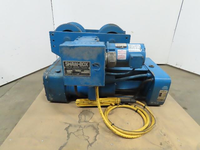 Shawbox 115736-2 5 Ton Wire Rope Electric Hoist 20' Lift 12FPM 460V 3Ph