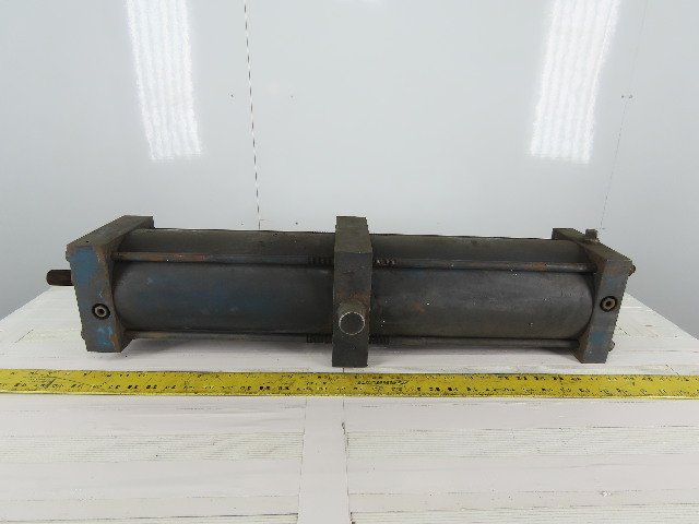 "Pneumatic Air Tie Rod Cylinder 6"" Bore 24"" Stroke Center Trunnion"