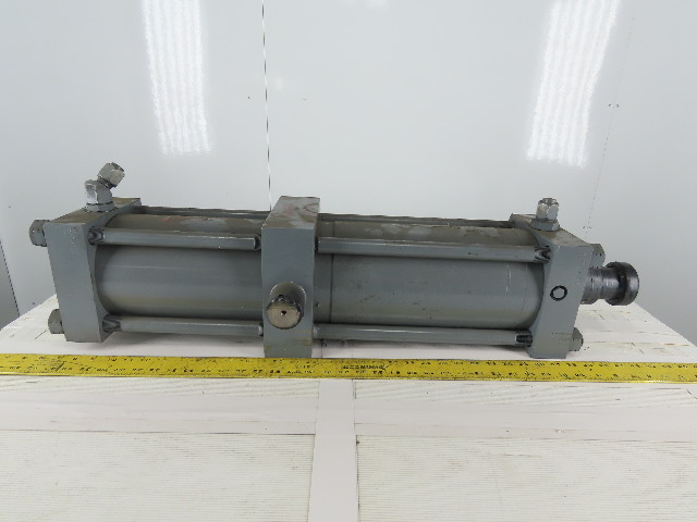 "Hydraulic Tie Rod Cylinder 6"" Bore 24"" Stroke Center Trunnion"