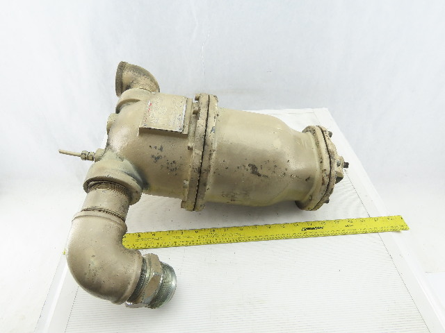"Wright Austin 160 PSI 450°F Cast Iron Gas Liquid Separator 2"" Type T"