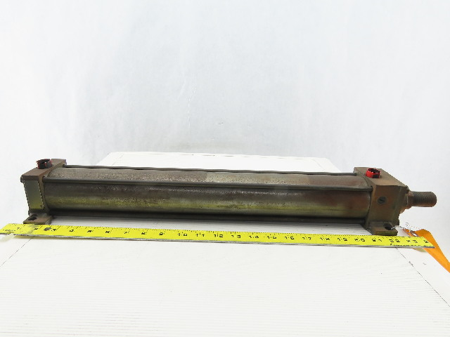 """Hydro-Line Pneumatic Air Tie Rod Cylinder 2-1/2"""" Bore 18"""" Stroke"""