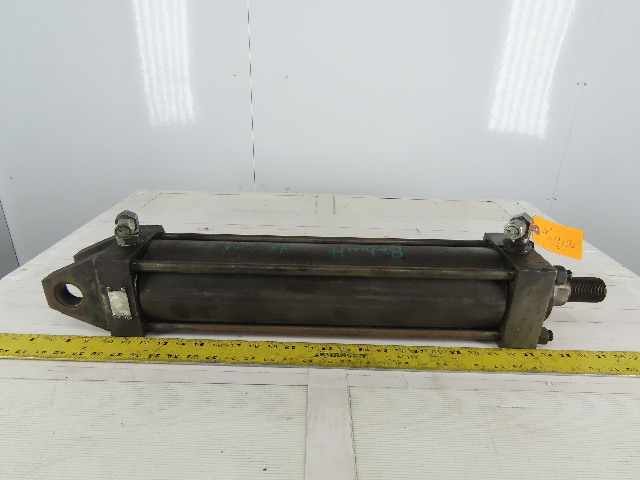 """Hydraulic Tie Rod Cylinder 4"""" Bore 18"""" Stroke Double Acting Clevis End"""
