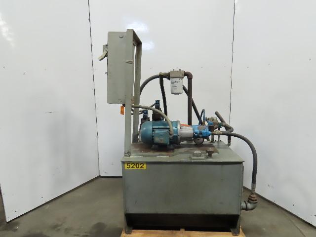 Vickers 5Hp Hydraulic Power Unit 65 Gallon W/PVQ10 A2R SE1S 10 Pump 208-230/460V