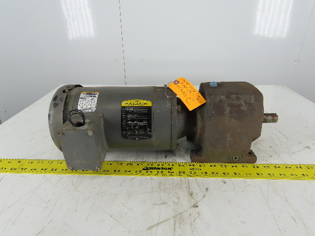 "Baldor VM35558T Inline Gear Motor 9:1 Ratio 191.67RPM 208-230/460V 3Ph 1"" Shaft"