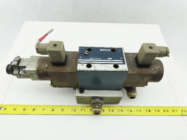 Bosch 811 404 001 4/3 Position Hydraulic Directional Control Valve W/ Feedback