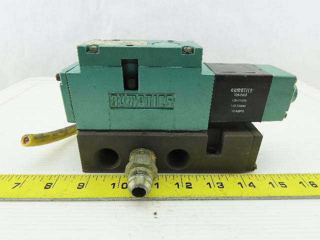 Numatics 254SA43AK000030 110/120V 150PSI 4/2 Position Solenoid Valve On Manifold