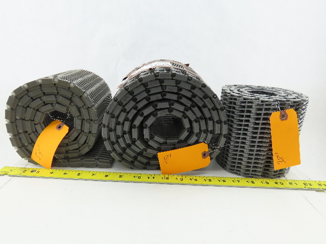 """6"""" Poly Gray Chain Conveyor Belt Lot of 3 Rolls 158"""" Total See Description"""