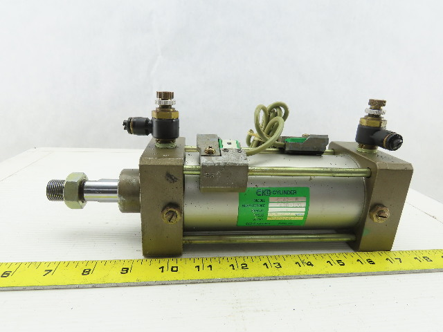 "CKD SCA2-LB 63B-100 2-11/16"" Bore 4"" Stroke 20mm Rod Double Acting Air Cylinder"