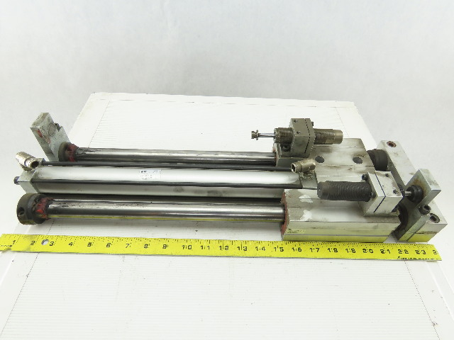 "PHD SED25x14-BS-BT-G0-L10 Pneumatic Linear Slide Cylinder 14"" Stroke"