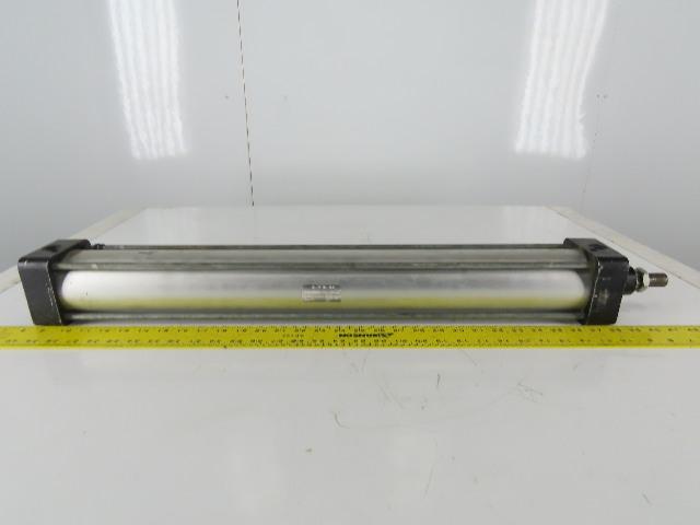 Schrader Bellows Stainless Steel Shaft 80MM Bore 635MM Stroke Pneumatic Cylinder