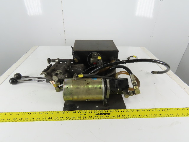 Big Joe 12VDC Hydraulic Power Unit Pump W/2 Spool Manual Control Valve