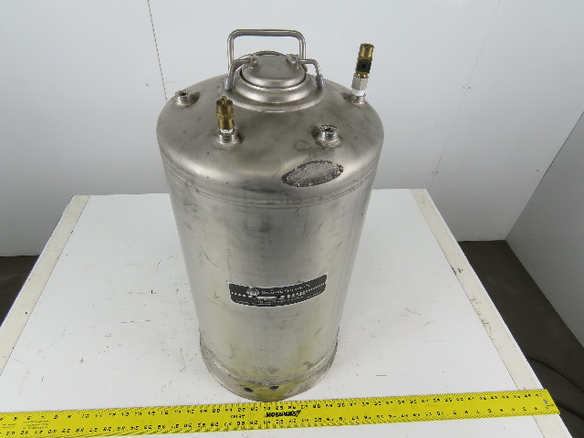 Spraying Systems 304 Stainless Steel General Purpose Pressure Vessel Tank 10 Gal