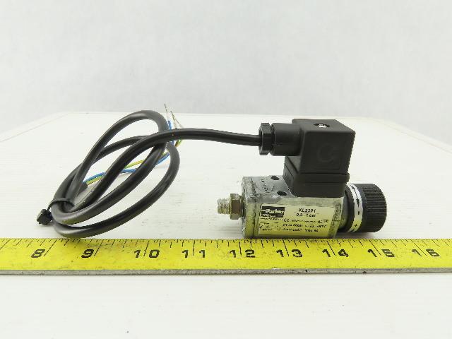 Parker KL3201 Adjustable Pneumatic pressure Switch 0.2 To 2 Bar 250V Max 6A