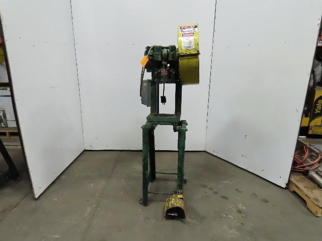 """Rousselle 0E Mechanical 5 Ton OBI Punch Press 1-1/4"""" Stroke 4"""" Throat 230/460V"""
