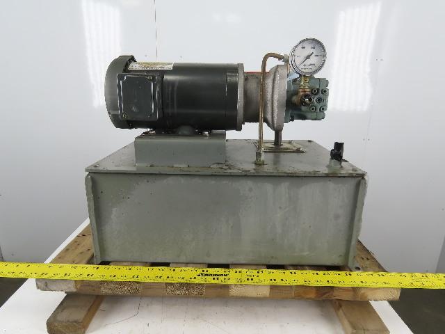 Graham T10L 1-1/2Hp 3Ph 230/460V 50 L Capacity Hydraulic Power Unit