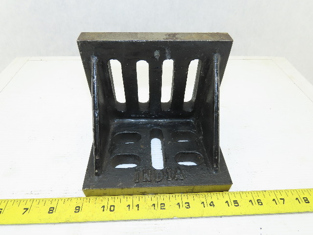 "4-1/2""x6""x5"" Cast Iron Webbed 90° Angle Plate/Block Machinist Set Up Fixture"
