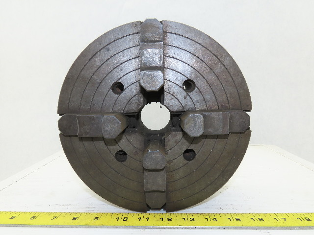 """9"""" Dia. x 1-3/4"""" ID Self Centering 4 Jaw Independent Lathe Chuck"""