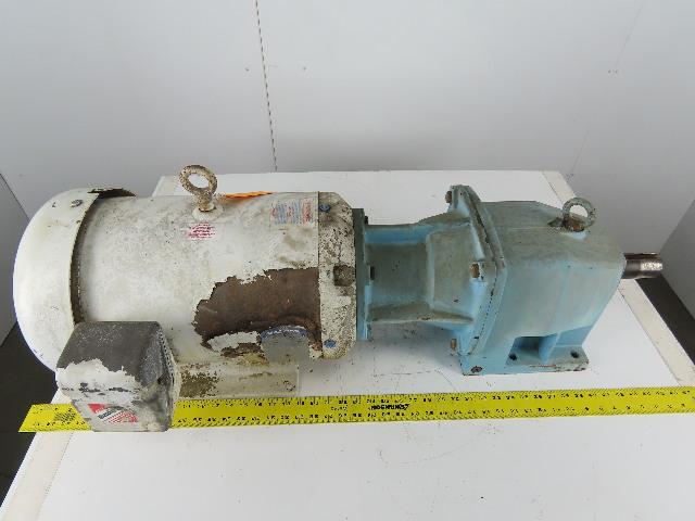 Baldor CWDH23933T Washdown Motor W/5:1 Ratio Speed Gear Reducer 230/460 3Ph