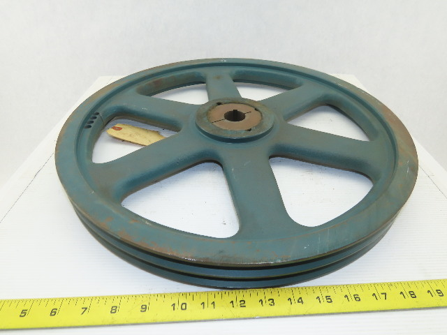 Dodge Cast Iron 2 Groove V Belt Pulley 18 75 O D Qd