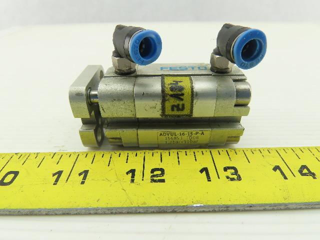 Festo 156853 TD08 ADVUL-16-15-P-A Pneumatic Compact Cylinder 10 Bar