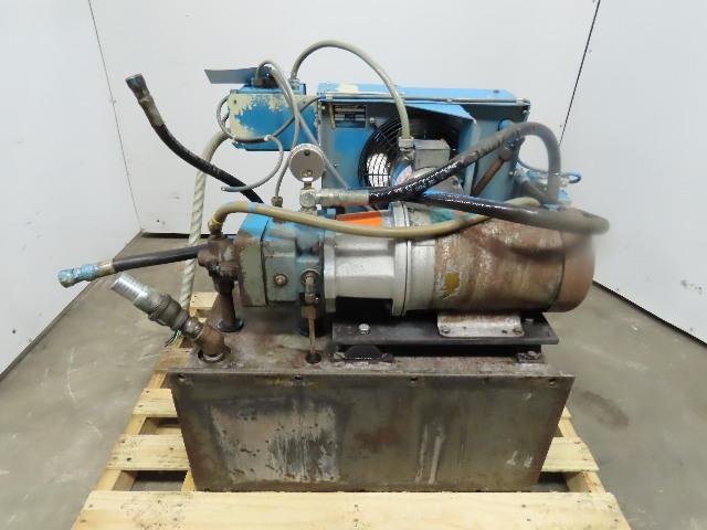 Rexroth 480V 5Hp 1725RPM 3Ph 32 US Gal Hydraulic Power Unit W/ Aftercooler