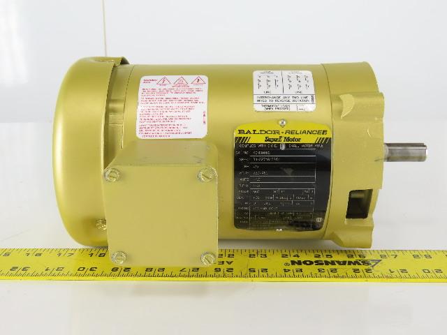 Baldor KEM30003 .25Hp 230/460V 1725RPM 3 Phase 56C Frame Electric AC Motor TEFC