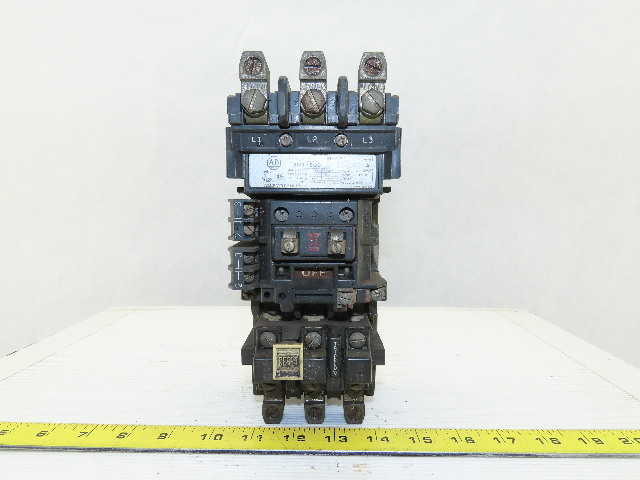 Allen Bradley 509-COD Ser A Size 2 25Hp Contactor Starter 3P 120V Coil Relay
