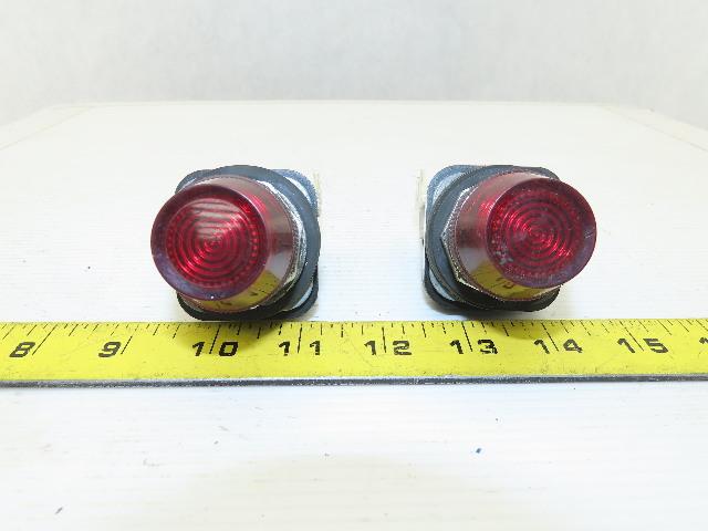 Allen Bradley 800T-QH24R Ser T Red Indicating Pilot Light 24VDC Lot Of 2