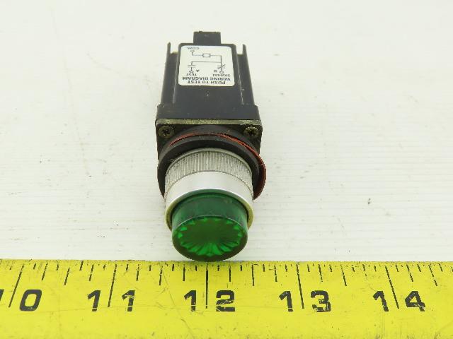 Allen Bradley 800MR-QT24K Illuminated Momentary Push-Button Green 24V AC/DC L85