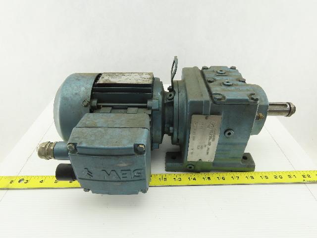 Sew Eurodrive R37DT71C4TF-IS 1/3HP Motor 230/460V 3Ph W/44.81:1 Inline Gearbox