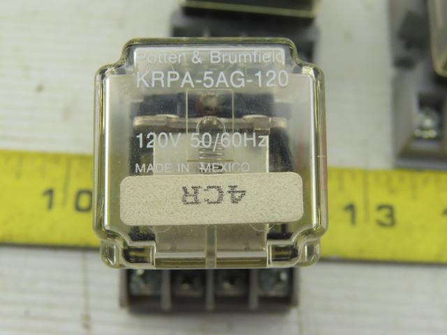 Lot of 2 Potter /& Brumfield S89R11ABD1-120 Relay 120V 50//60Hz Used W// Warranty