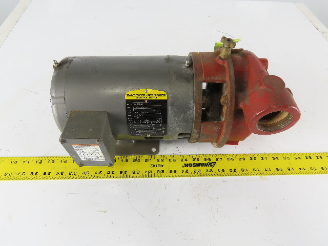 "Baldor Scot model 2030H0SA 3Hp 3450RPM 208-230/460V 1-1/2""x1-1/2"" Motor Pump"