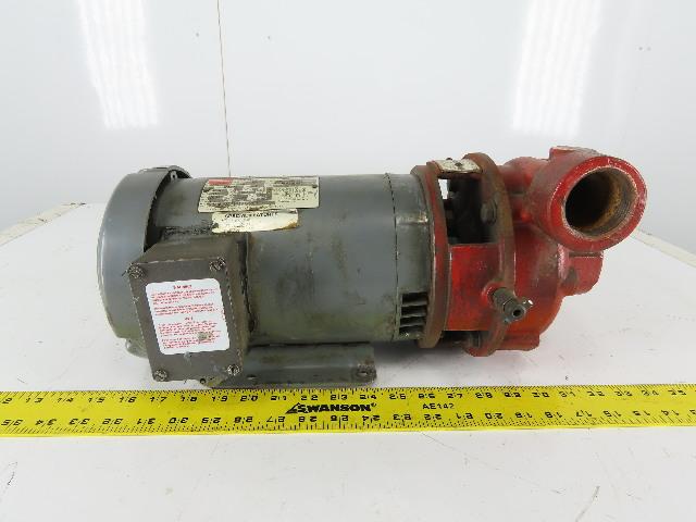 "Dayton 3N792B 3Hp 3460RPM 208-230/460V 1-1/2""x1-1/2"" Centrifugal Pump"