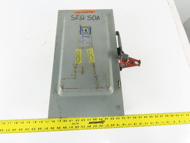 WESTINGHOUSE 100A 600VAC 250VDC TYPE DS DISCONNECT SWITCH 672B294G03