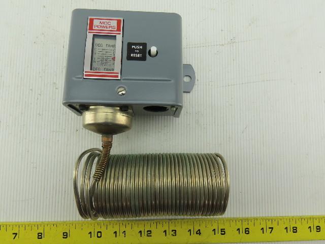 MCC Powers 134-1504 15/55°F 2 Single Pole Manual Reset Temperature Control