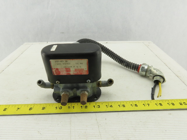 Humphrey 250-4E1 4/2 Position 120V 50/60Hz 30-125 PSI Solenoid Valve