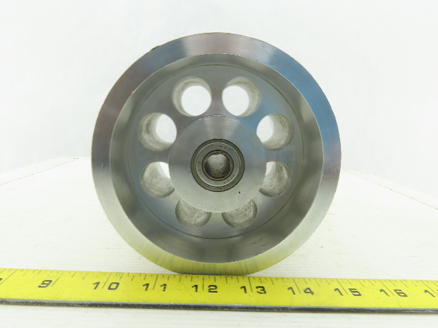 "5-1/4"" OD x 14 Flat Groove 17/16"" Pulley Sheave 4-11/16"" Wide 1/2"" Bore"