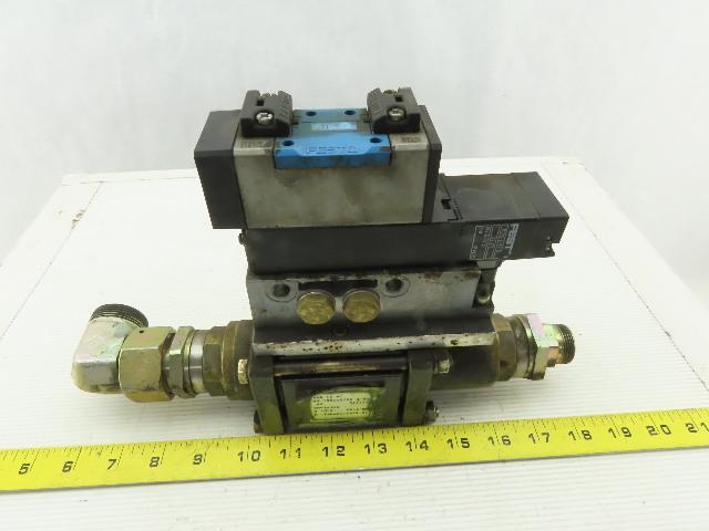 Muller Coax Vmk 15 Nc Pneumatic Valve W/Festo Block Plate & Solenoid