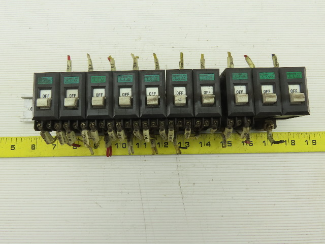 Idec NCR111 220V Circuit Breaker Assortment 10, 7, 5, 1 Amp Lot Of 10