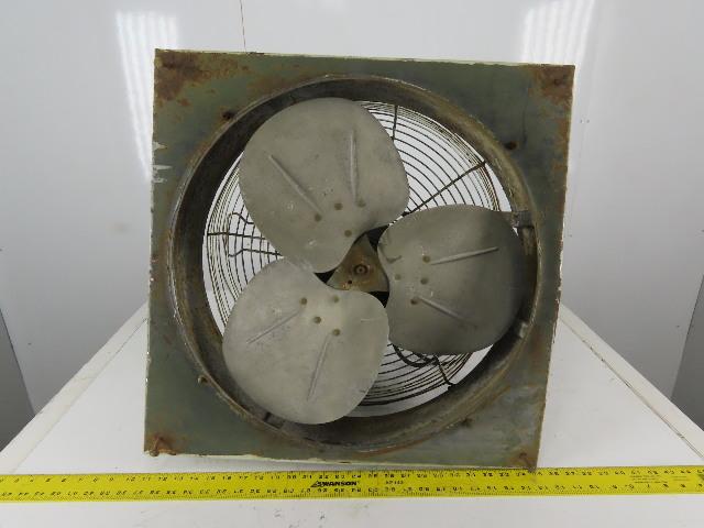 """Dayton 5K574BA 24"""" x 24"""" Exhaust Fan 2 Speed 1/4-1/8Hp 1725/1140RPM 1Ph"""