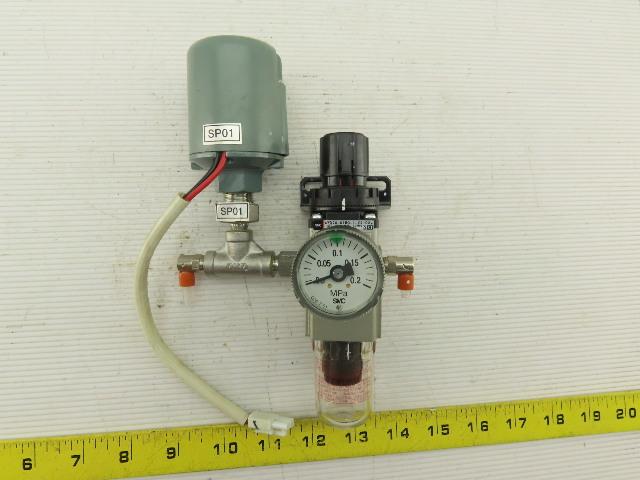 SMC AWD20-01BG-1-X2102 0.05-0.2 Mpa Precision Filter Regulator Pressure Switch