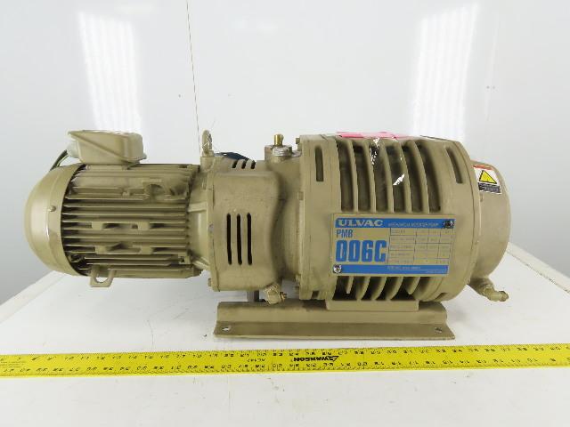 Ulvac PMB 006C 3.7kW 3Ph 200/220V 50/60Hz Mechanical Booster Pump Hankwang Laser