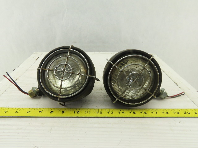 General Electric 36VDC Forklift Headlight Spot Light W/ Cage Assembly Lot Of 2